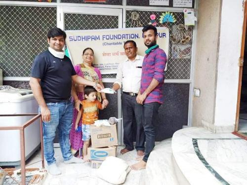 Donation of essentional items at ashray seva sansthan