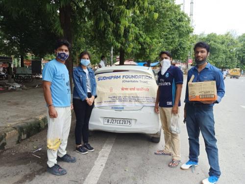 Food distribution sukhdiya circle(1)