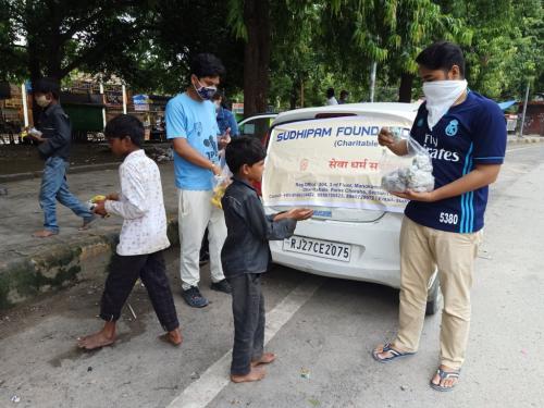 Food distribution sukhdiya circle