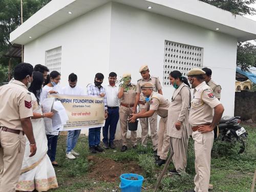 Planation Activity at Police Thana, Savina
