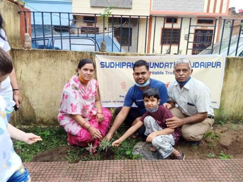 Plantation Activity at Shiv Park Udaipur