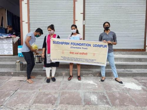Food Distribution Sec-4 Sai Baba Mandir