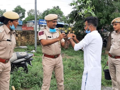 Planation by sunil and Police station Staff