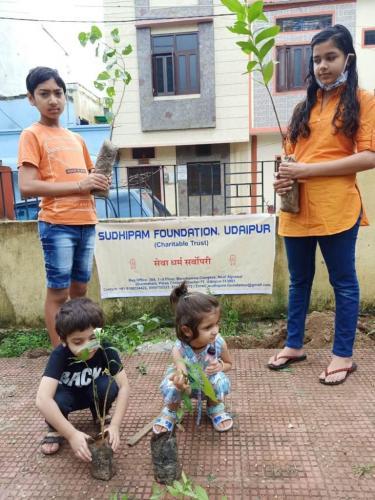 Plantation by colony children
