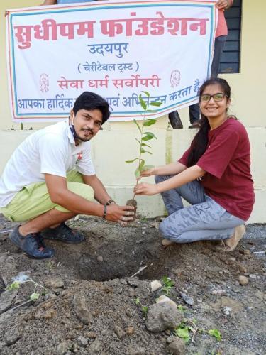 4-Tree Plantation Govt sen sec panerioy ki maadri
